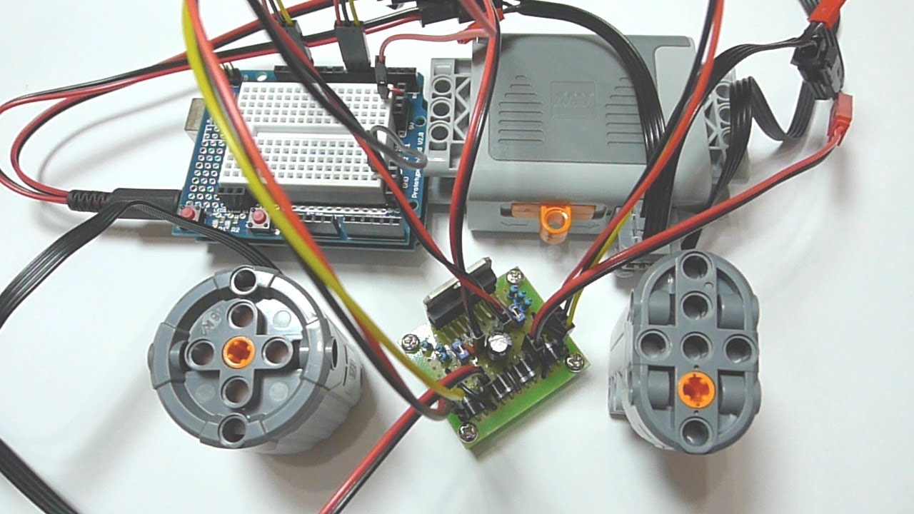 Arduino controlling lego power functions motor part