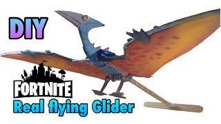 DIY : Flying Fortnite Pterodactyl Glider from Foam Cardboard