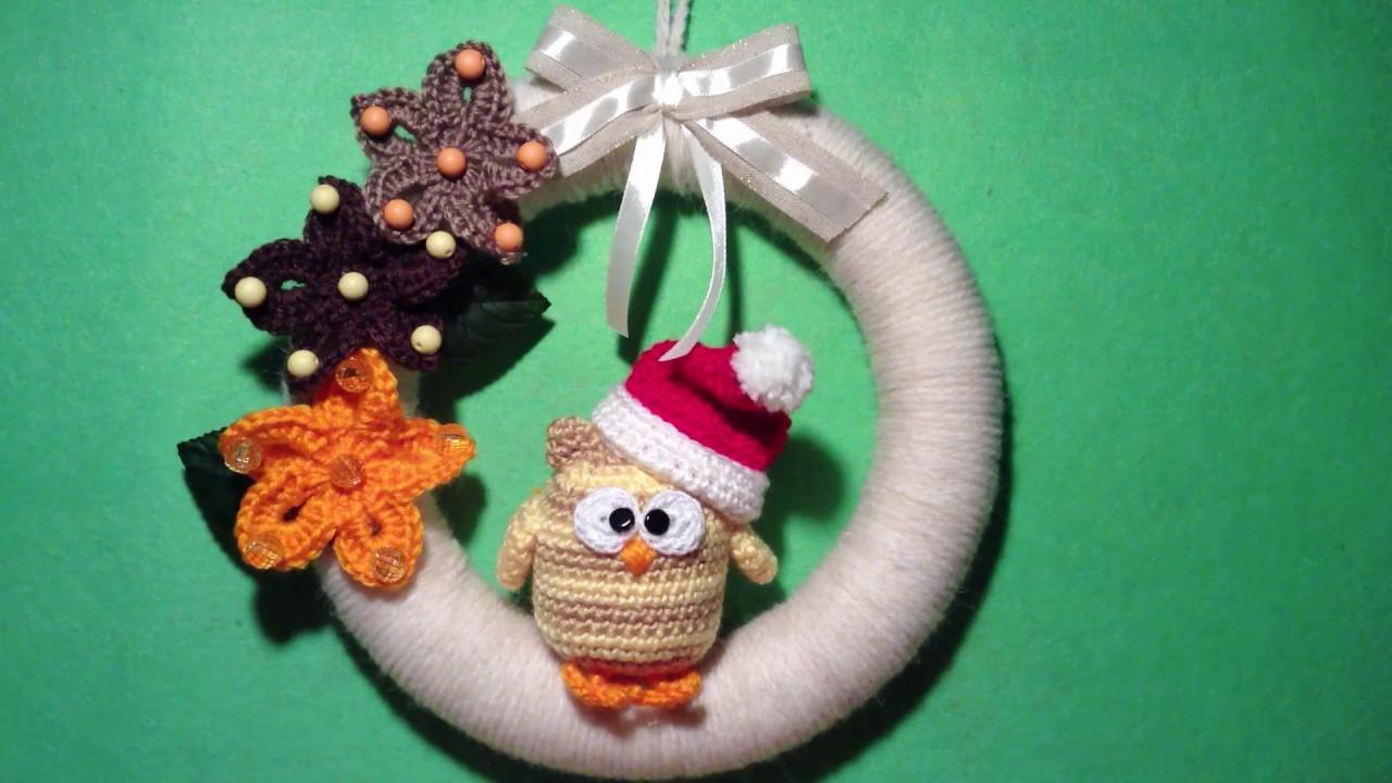 Ghirlanda Ad Uncinetto Tutorial Natale Wreath Crochet Christmas