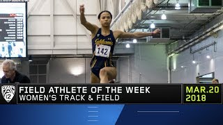 Cal jumper Isabella Marten claims Pac-12 Women's Field Athlete of t...