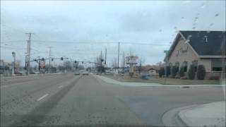 Walk around Caldwell, Idaho; a little downtown; bridge, Salvation Army