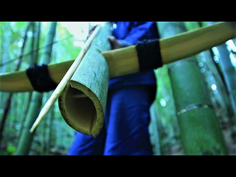 How to make survival crossbow and arrows from bamboo