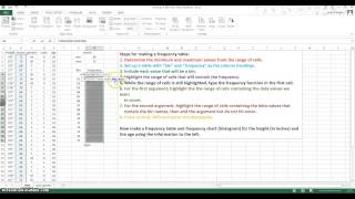 frequency table and chart excel 2013 walkthrough