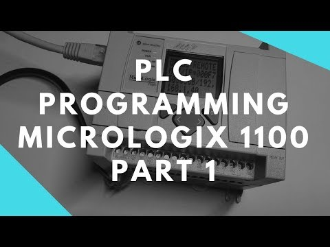 PLC Programming Tutorial 1 - Allen Bradley MicroLogix 1100 w/ RSlinx RSLogix500 BOOTP