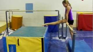 Gymnastics: Introductory Uneven Bar Drills- Preteam, Level 2, Level 3, Level 4