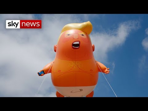 Watch live as giant baby Trump blimp takes to the skies