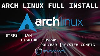 Arch Linux Full Install: April 2021 ISO