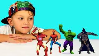 Superheroes Dance with Mark and Toys 색칠공부를 하면 슈퍼히어로랑 신나게 춤을 춘다고 헐크