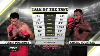 Fight of the Week: Khalil Rountree and His Heavy Hands at RFA 33