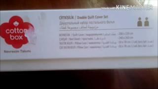 Постельное белье марки COTTON BOX сатин. Реальный обзор.(Сатиновое постельное белье из Турции. 100% натуральный хлопок, евро размер. Отличный подарок любимым., 2016-07-20T08:43:29.000Z)