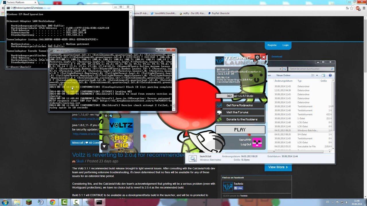 TutorialMinecraft Tekkit Lite Server Ohne Hamachi German YouTube - Minecraft tekkit server erstellen hamachi