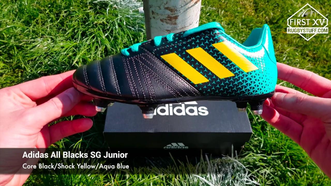 Adidas All Blacks SG Junior Rugby Boots - YouTube ed8b7f59c31