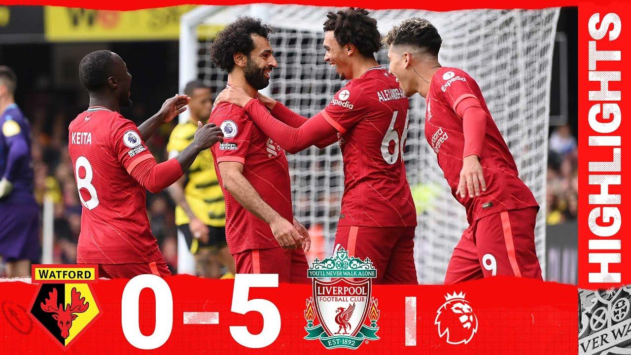 Highlights: Watford 0-5 Liverpool   Mane, Salah & a Firmino hat-trick for sensational Reds