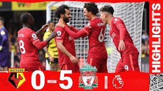 Highlights Watford 0 5 Liverpool Mane Salah a Firmino hat trick for sensational Reds