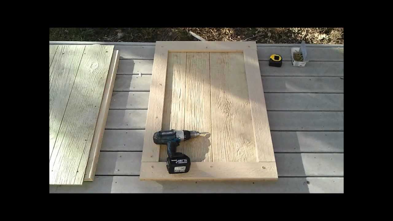 6 how to build a shed door how to build a generator enclosure youtube