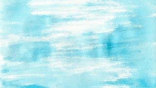 Приём рисования сухая кисть в акварели. Видеоурок по рисованию Анны Кошкиной.