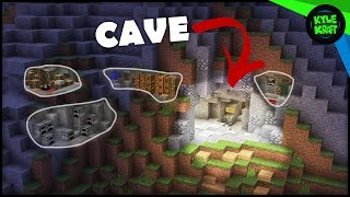 How to Build a Cave Base in Minecraft!