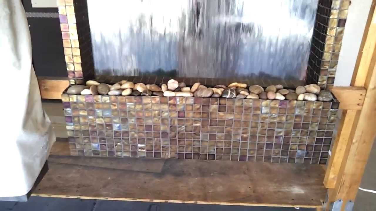 Custom wall fountain wsmall glass tiles youtube workwithnaturefo