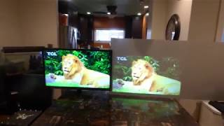 Can a projection screen make a 720p 50 lumens projector look like a 1080p tv