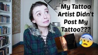 my tattoo artist didn t post my tattoo tattoo talk tuesday