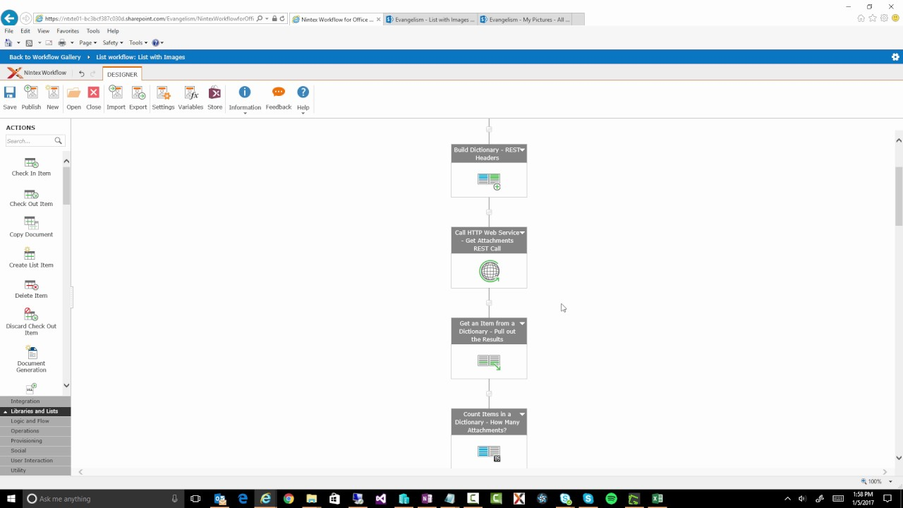 Nintex Workflow for Office 365 - Copy Attachments to