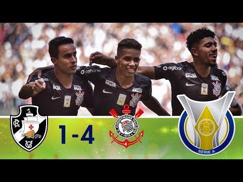 Melhores momentos - Vasco 1 x 4 Corinthians - Campeonato Brasileiro (29/07/2018)