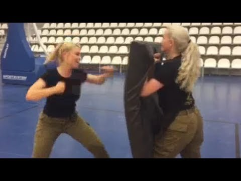 Israeli women soldiers combat fitness training IDF girls Israel Defense Forces army female krav maga