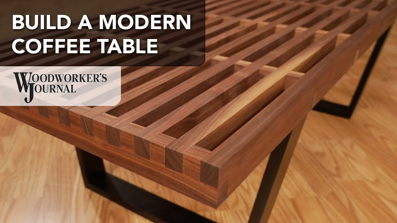Build A Modern Coffee Table With Cross Lap Joints
