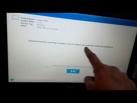 how to fix supportassist is running a system scan to detect