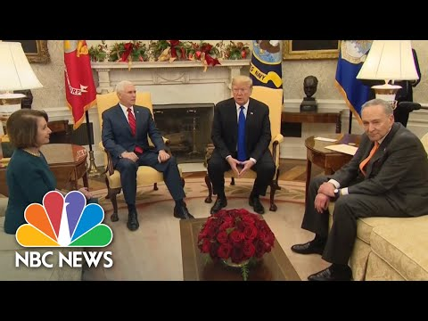Trump Tells Pelosi, Schumer He'd Be 'Proud' To Shut Down Government Over Border Wall | NBC News