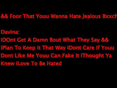 Davina - Most Hated Lyrics