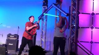 PAX East 2011 - MC Frontalot - Black Lotus vs. Light Saber (Yellow Laser Beam)
