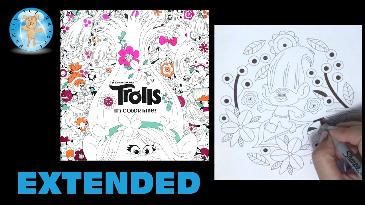 Dreamworks Trolls Its Color Time Adult Coloring Book Extended