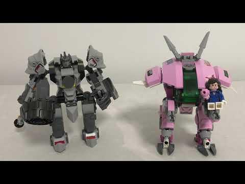450块积木打造两名守望英雄 乐高 D.Va和大锤 Lego 75973  D Va& Reinhardt