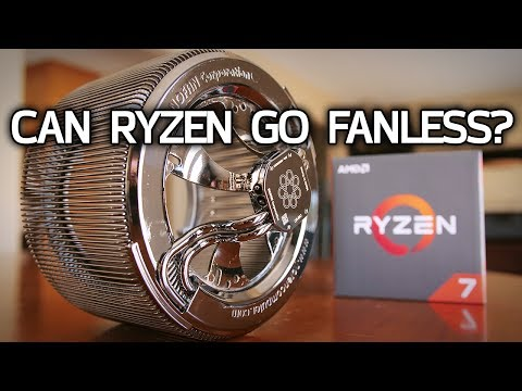 Can You PASSIVELY COOL a Ryzen 7 CPU?