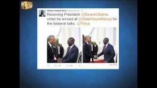 William Ruto exchanges pleasantries with President Obama