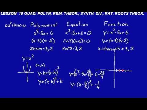 DIVE Video Lecture for Saxon Calculus Lesson 10, 2nd Edition