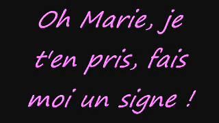 Marie, Johnny Hallyday; avec paroles