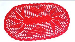 CROCHÊ- Tapete do jogo de cozinha / simples fácil e muito rápido # Fácil Crochê Fácil