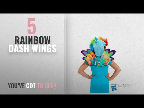 Top 10 Rainbow Dash Wings [2018]: My Little Pony Rainbow Dash Costume Fairy Wings By Elope