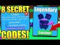 8 SECRET PET CODES IN BUBBLE GUM SIMULATOR! (Roblox)