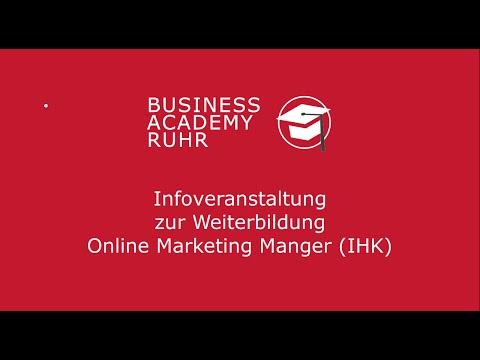 Infoveranstaltung Weiterbildung Online Marketing Manager (IHK)