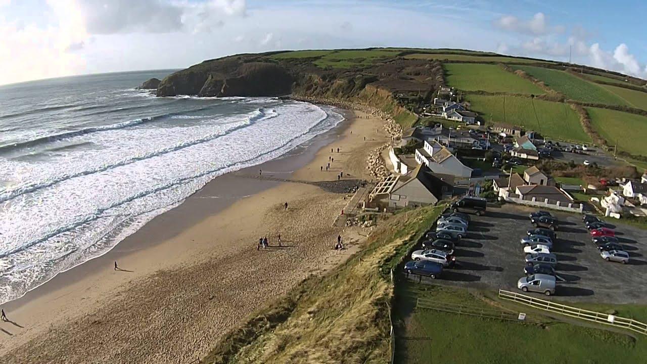 Cornwall Aerial Video Praa Sands Dji Phantom