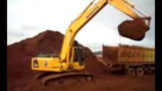Excavator Loading dump truk indonesia