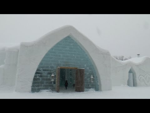 Amazing Vacations: Tour Of North America's Only Ice Hotel - Quebec's Hotel De Glace