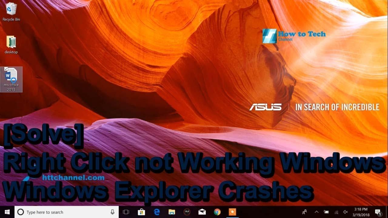 right click on desktop freezes