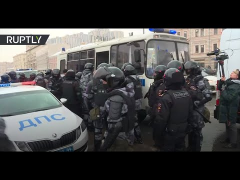 Pro-Navalny protest in Moscow