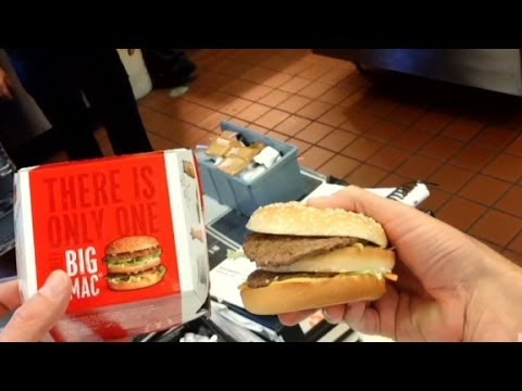 Quest to make fast food match ad picture