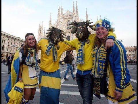 Italia - Svezia / Italy - Sweden/ Sverige fans milano