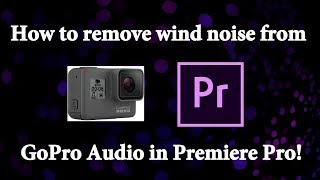 How to remove wind noise from GoPro Audio in Premiere Pro. Quick Audio fix for Karma Grip.